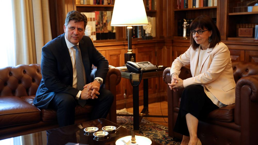 Συνάντηση ΠτΔ - αναπλ. υπουργού Εξωτερικών εν όψει ελληνικής προεδρίας στο Συμβούλιο της Ευρώπης