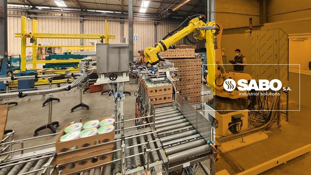 ΦΑΓΕ: Νέα πλήρως αυτοματοποιημένη γραμμή ρομποτικής παλετοποίησης από τη SABO