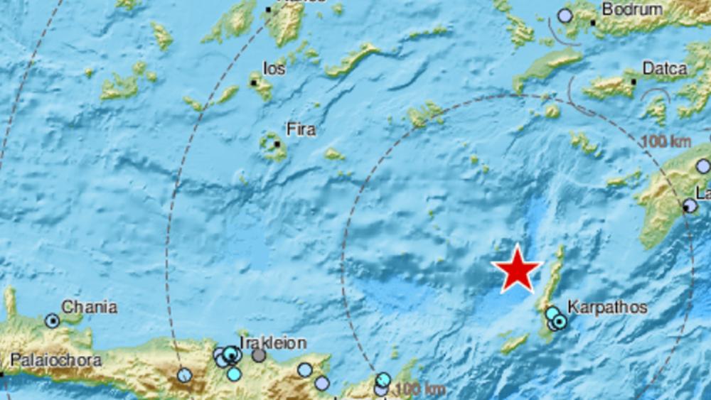Σεισμός 4,8 Ρίχτερ ανοικτά της Καρπάθου