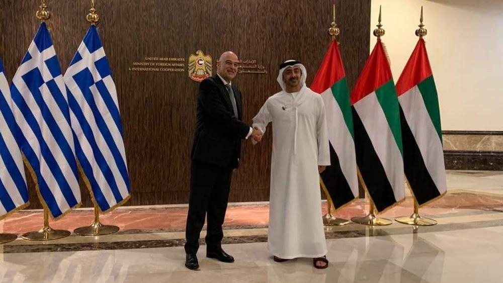 Συνάντηση Δένδια με τον ΥΠΕΞ των Ηνωμένων Αραβικών Εμιράτων
