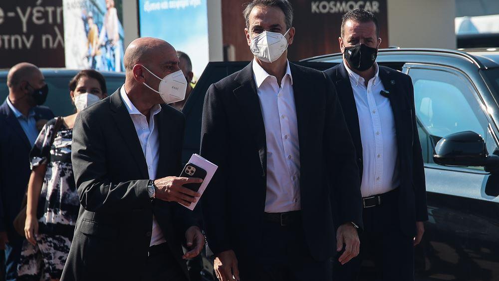 Στο περίπτερο του ΕΒΕΑ ο πρωθυπουργός Κυριάκος Μητσοτάκης