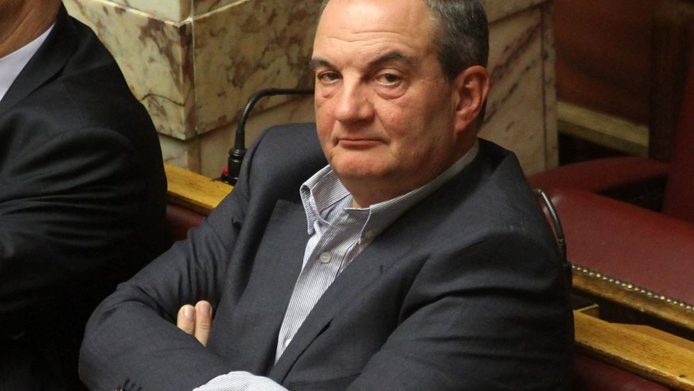 Στο προσυνέδριο της ΝΔ ο πρώην πρωθυπουργός Κώστας Καραμανλής