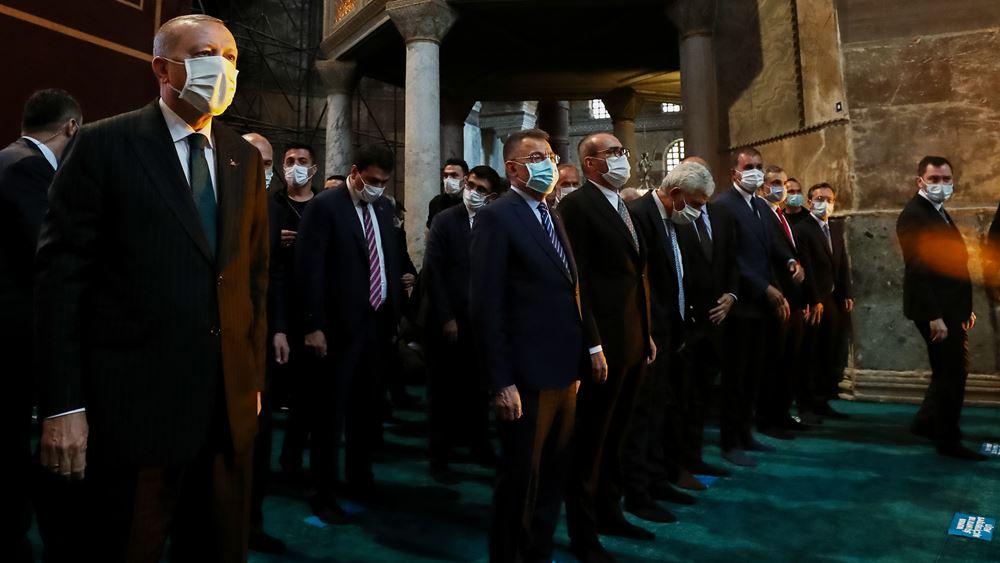 Ερντογάν μετά το σόου: Η Αγιά Σοφιά ήταν τζαμί και έγινε πάλι τζαμί
