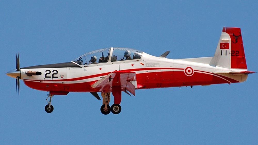 Τουρκία: Εκπαιδευτικό στρατιωτικό αεροσκάφος συνετρίβη ανοιχτά της Φώκαιας, κοντά στη Σμύρνη (video)