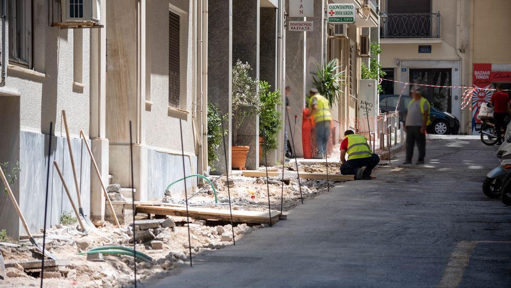 Δήμος Αθηναίων: Νέα πεζοδρόμια αποκτούν οι γειτονιές της Αθήνας