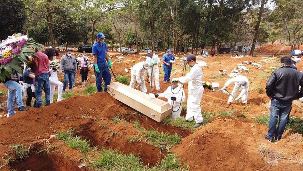 Βραζιλία: Πάνω από 2.200 νεκροί εξαιτίας του κορονοϊού για 2ο συνεχόμενο 24ωρο