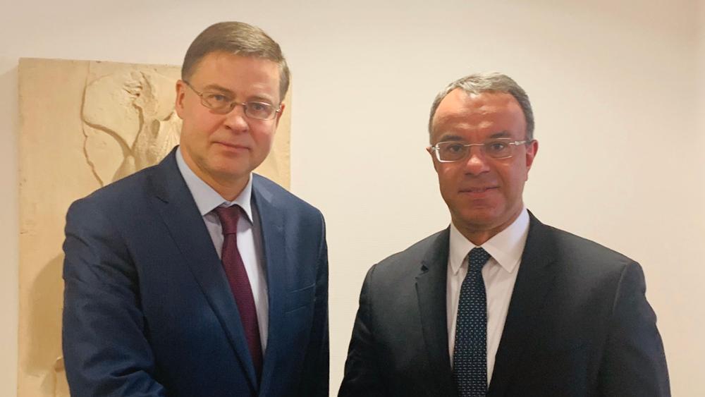 Συνάντηση Σταϊκούρα-Ντομπρόβσκις για την οικονομία και την ανάπτυξη