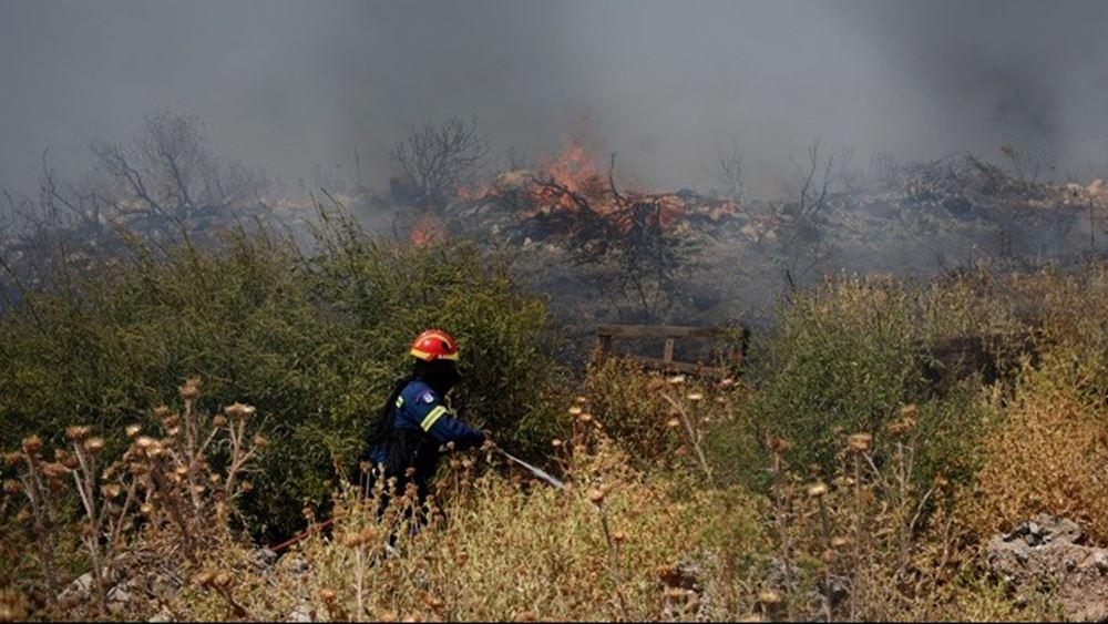Βελτιωμένη η εικόνα της πυρκαγιάς στη Δροσιά Αχαΐας
