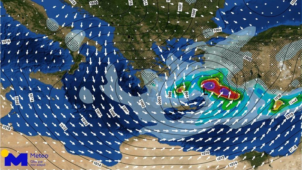 Για ανέμους 10 έως 11 μποφόρ στο Αιγαίο την Τρίτη προειδοποιεί το meteo του Αστεροσκοπείου