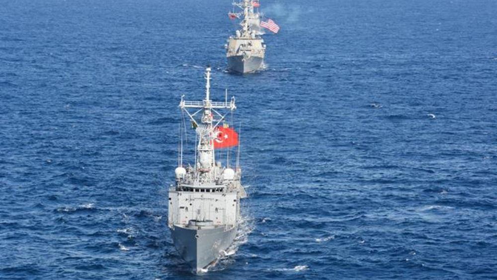 Το τουρκικό πολεμικό ναυτικό άρχισε τα μεγαλύτερα γυμνάσια της ιστορίας του