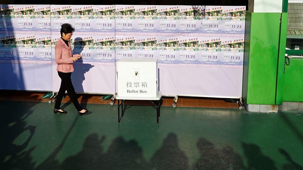 Χονγκ Κονγκ: Αριθμός ρεκόρ ψηφοφόρων έχει σπεύσει στις κάλπες για τις περιφερειακές εκλογές