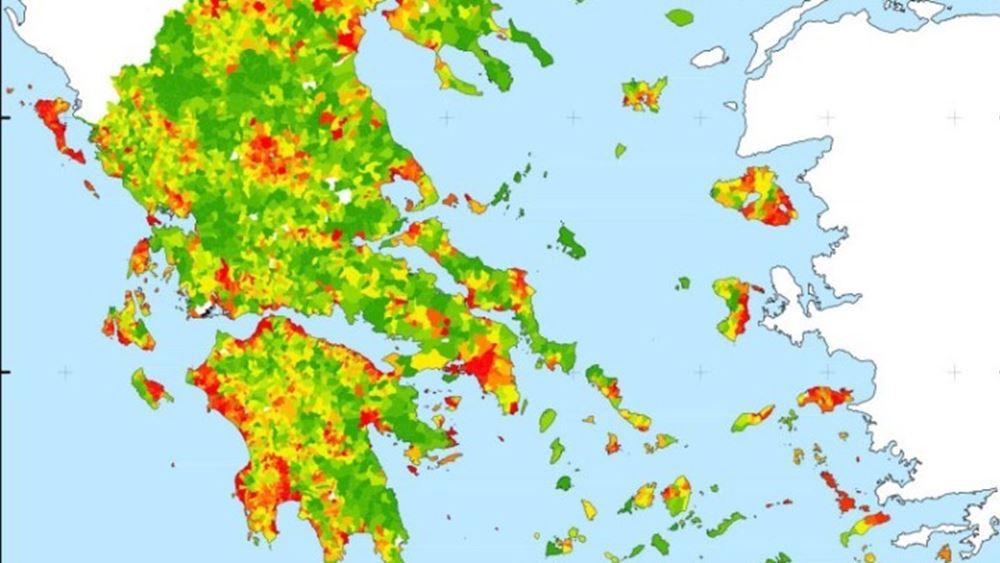 O πρώτος ψηφιακός χάρτης της Ελλάδας εντός των διοικητικών ορίων του 1940