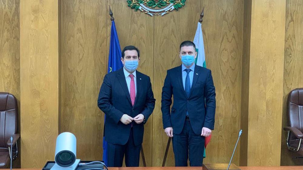 Συνάντηση του Υπ. Μετανάστευσης και Ασύλου κ. Νότη Μηταράκη, με τον Υπ. Εσωτερικών της Βουλγαρίας