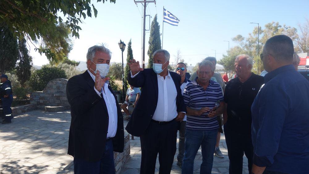 Πυρκαγιά: Επίσκεψη Μ. Βορίδη στις περιοχές των Μεσογείων - Άμεση καταγραφή ζημιών από τον ΕΛΓΑ