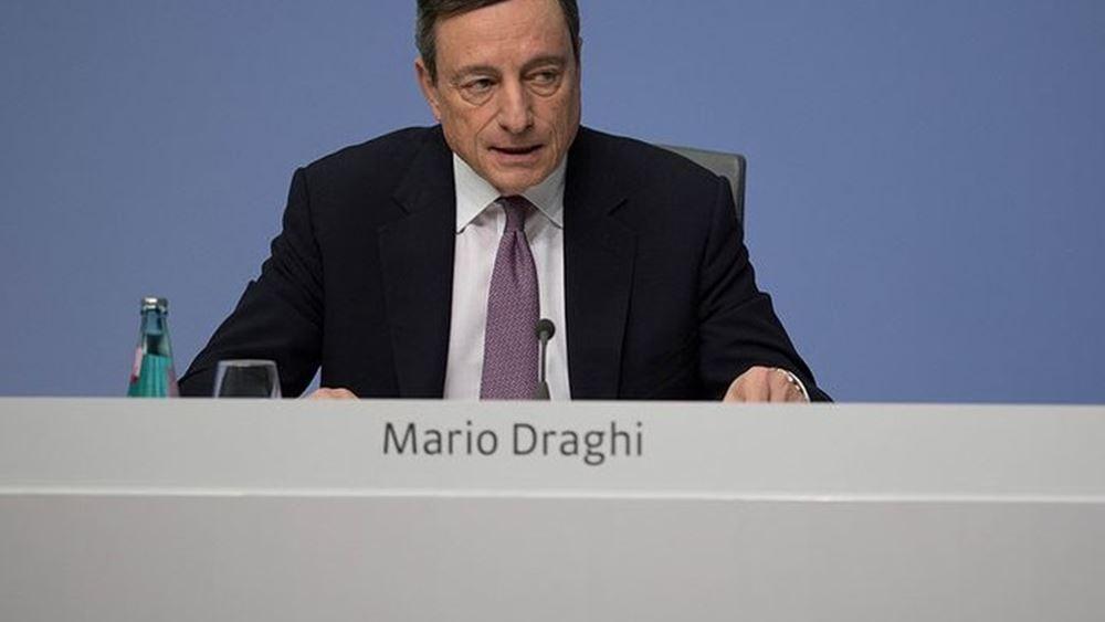 Ντράγκι: Oι βασικοί παράγοντες κινδύνου για τον τραπεζικό τομέα το 2019