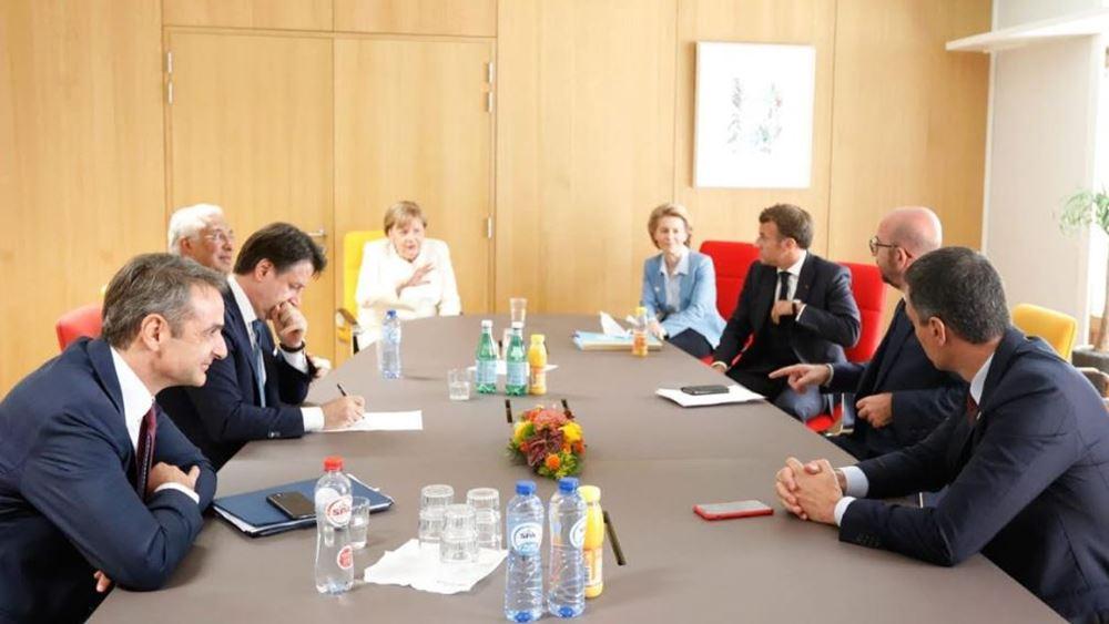 Σύνοδος κορυφής: Συνάντηση Μητσοτάκη, με Μέρκελ, Μακρόν, Σάντσεθ και  Κόντε