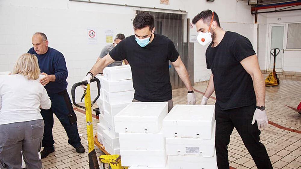 Διανομή 1 τόνου τροφίμων σε κοινωνικές δομές της Αττικής από το ΚΙΝΑΛ