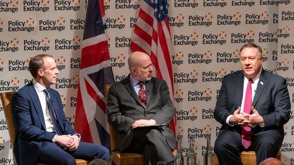 """Πομπέο: """"Τεράστια οφέλη"""" από την προσέγγιση Βρετανίας - ΗΠΑ μετά το Brexit"""