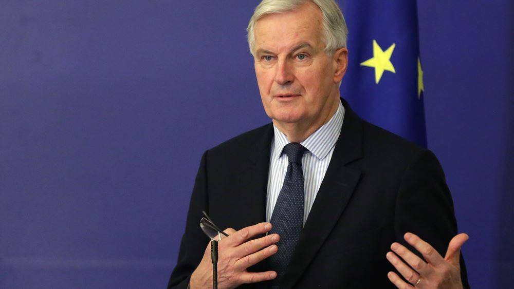 """""""Αποφασισμένος"""" να πετύχει μια συμφωνία για το Brexit δηλώνει ο Μισέλ Μπαρνιέ"""