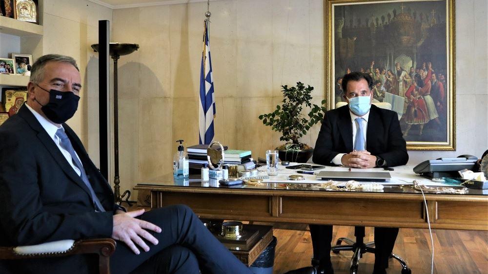 Συνάντηση Γεωργιάδη με τον υφυπουργό Εσωτερικών αρμόδιο για Θέματα Μακεδονίας-Θράκης