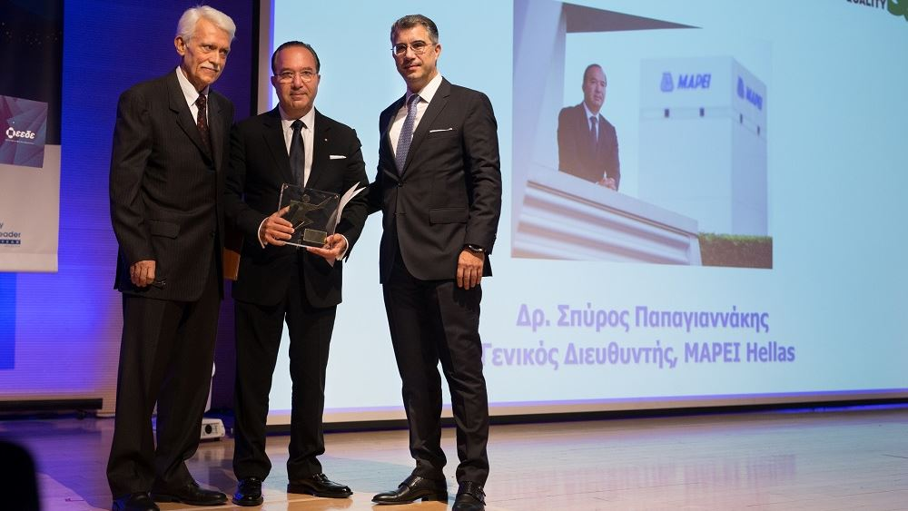"""""""Έλληνας Quality Leader of the Year 2019"""" ο γενικός διευθυντής της MAPEI Hellas Δρ Σπ. Παπαγιαννάκης"""