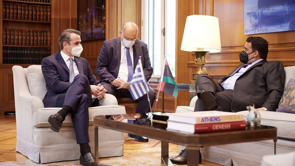 Μητσοτάκης - Μένφι: Άμεση επανεκκίνηση των συνομιλιών Ελλάδας και Λιβύης για την Οριοθέτηση των Θαλασσίων Ζωνών