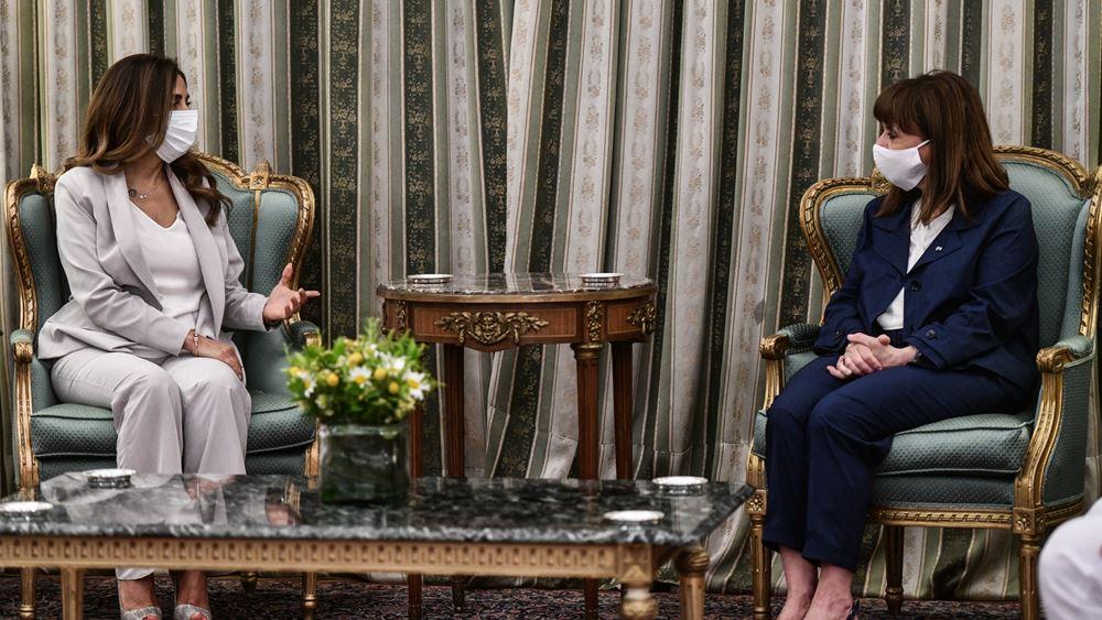 Την αντιπρόεδρο της κυβέρνησης του Λιβάνου υποδέχτηκε σήμερα η ΠτΔ