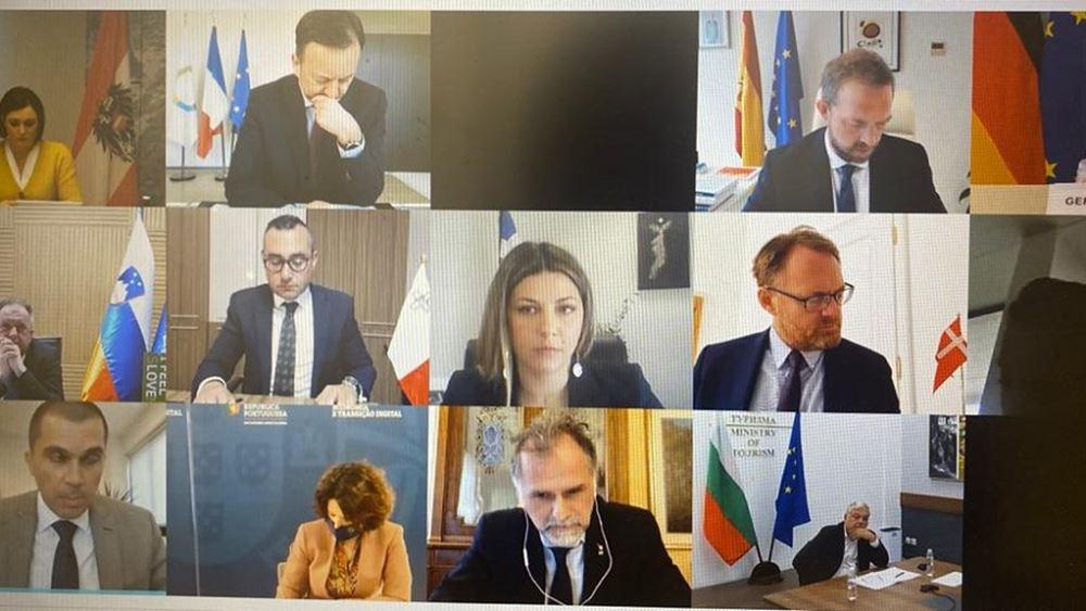 Η Σ. Ζαχαράκη σε τηλεδιάσκεψη υπουργών και υφυπουργών τουτισμού της ΕΕ για το πράσινο πιστοποιητικό