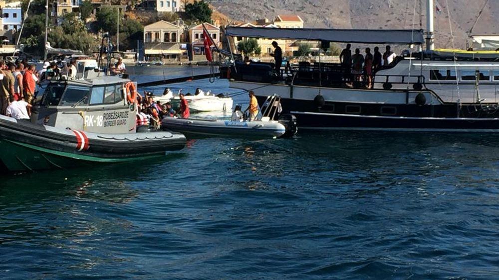 Λύση στο πρόβλημα των μεταναστών που έχουν εγκλωβιστεί στη Σύμη, ζητά ο δήμαρχος