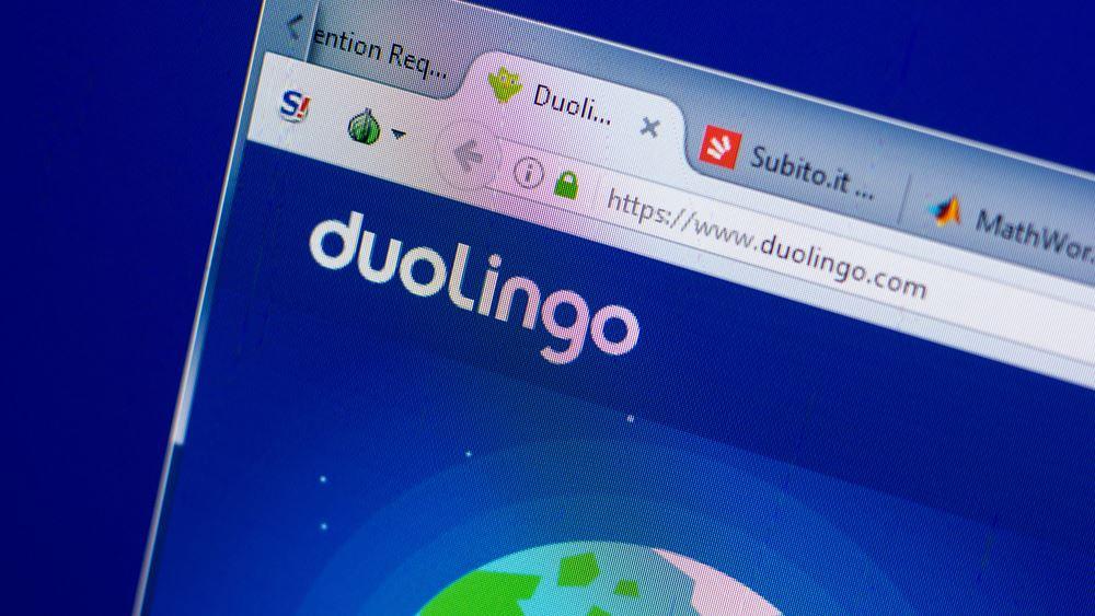 """Στα 141 δολάρια ημετοχή της Duolingo στο """"ντεμπούτο"""" της στη Wall - Στα 6,5 δισ. δολάρια η αποτίμηση"""