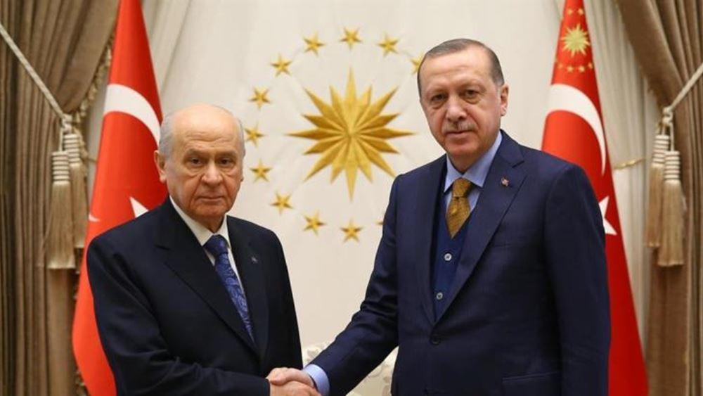 """Τουρκία: """"Ναι"""" στην απαγόρευση του φιλοκουρδικού κόμματος από τον εθνικιστή Μπαχτσελί"""
