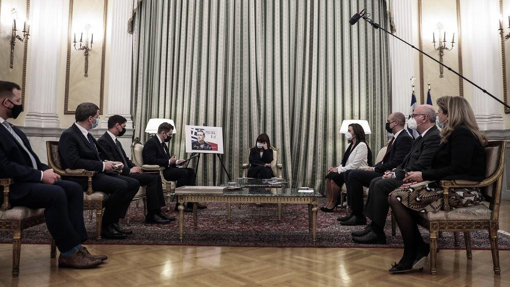 Συνάντηση της ΠτΔ με τους επικεφαλής των Κοινοβουλευτικών Ομάδων Φιλίας Ελλάδας - Πολωνίας