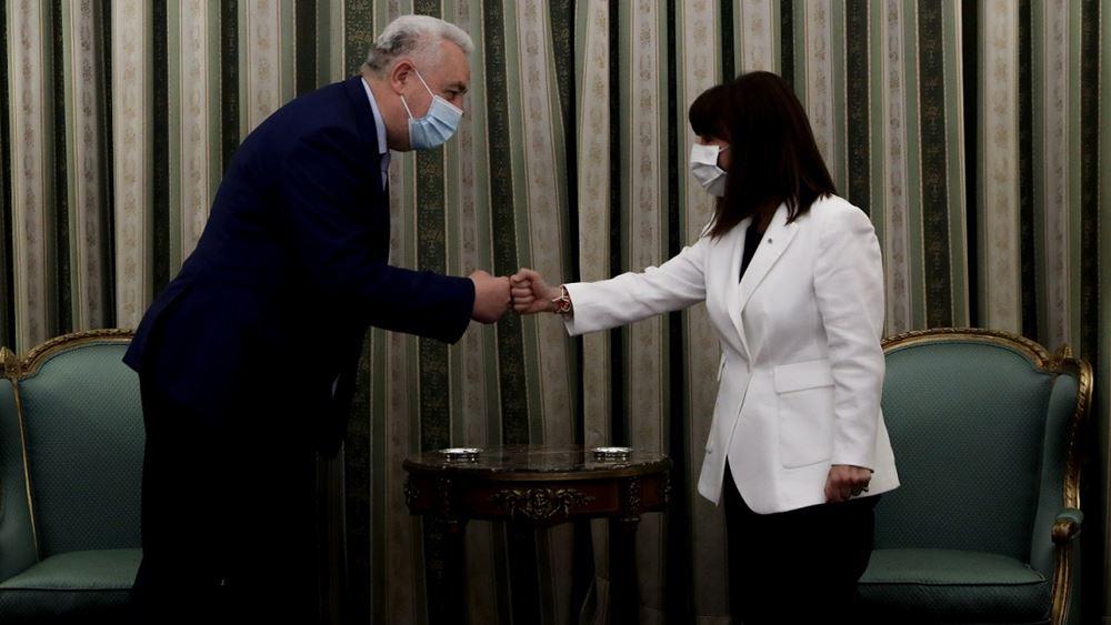 ΣυνάντησηΚατερίνας Σακελλαροπούλου με τονπρωθυπουργό του Μαυροβουνίου