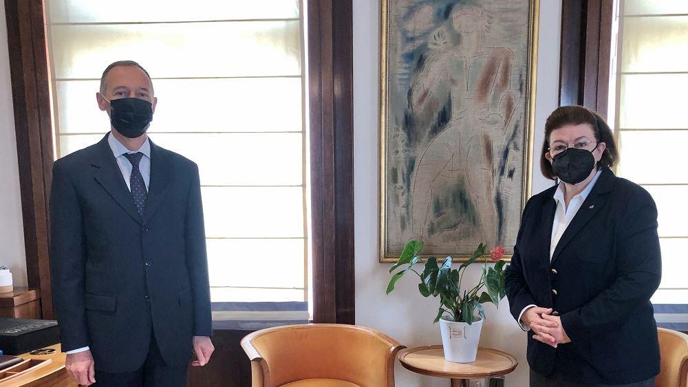 Συνάντηση Μενδώνη με τον Πρέσβη της Ρωσίας Andrey M. Maslov