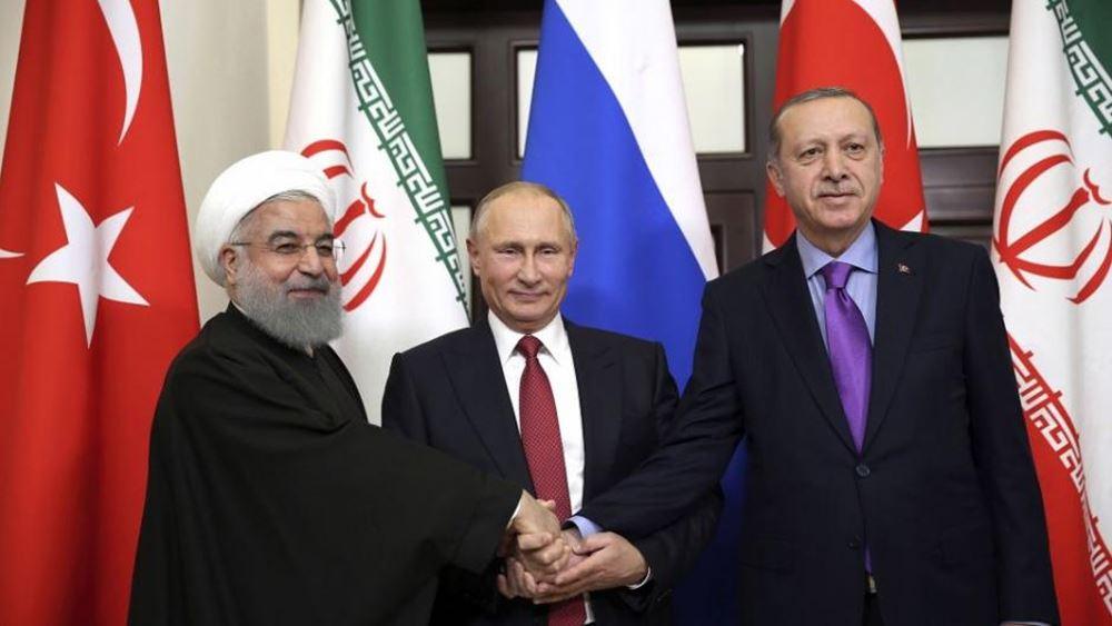 """Τηλεφωνικές """"διεργασίες"""" μεταξύ Πούτιν - Ερντογάν  - Ρουχανί"""