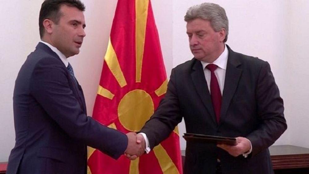 πΓΔΜ: Πρόεδρος Ιβανόφ και πρωθυπουργός Ζάεφ χαιρετίζουν την υπογραφή για προσχώρηση στο NATO