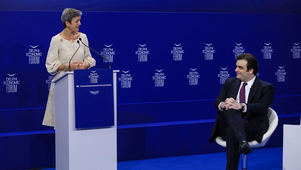 Vestager: H Ελλάδα σήμερα αποτελεί πρότυπο (upd)