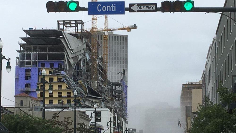 Κατέρρευσε υπό κατασκευή ξενοδοχείο της Hard Rock στη Νέα Ορλεάνη - δύο νεκροί