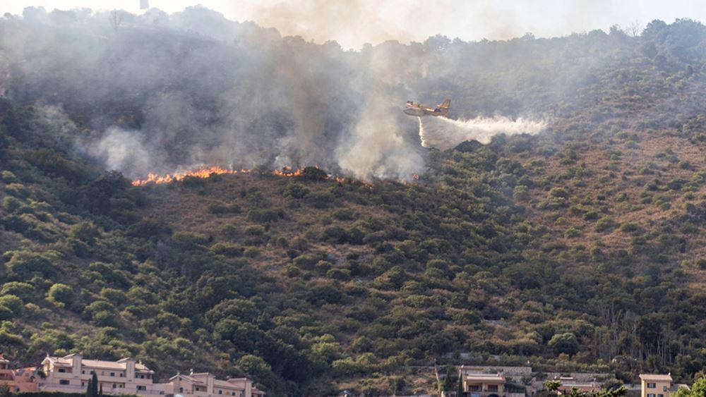 Ιταλία: Πυρκαγιά σε δασώδη περιοχή κοντά στο Τίβολι, 50 χλμ. έξω από την Ρώμη