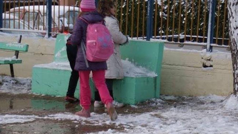 Κλειστές αύριο λόγω παγετού όλες οι σχολικές μονάδες στη Δυτική Μακεδονία