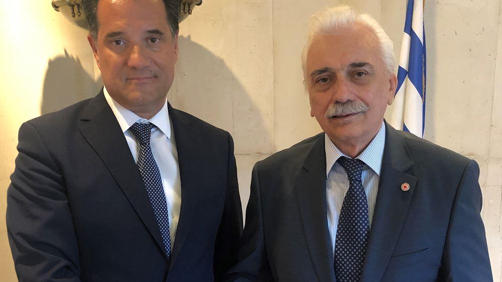 Συνάντηση Αδ. Γεωργιάδη με τον πρόεδρο του  Ελληνικού Ερυθρού Σταυρού