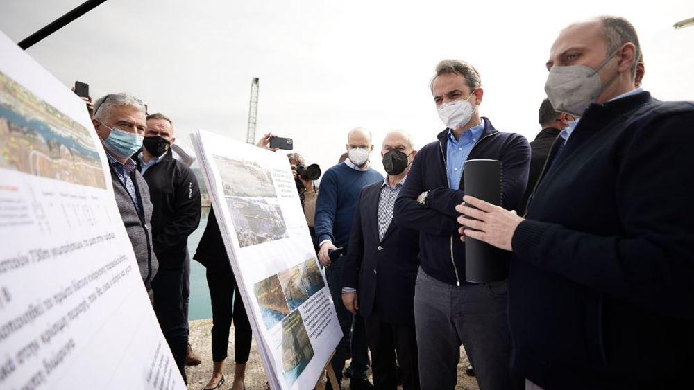 Για το σχέδιο αποκατάστασης της Διώρυγας της Κορίνθου ενημερώθηκε ο Κ. Μητσοτάκης