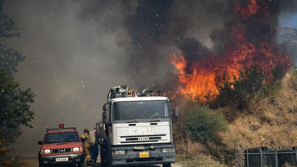 Τρίπολη: Δύσκολη η κατάσταση με την φωτιά στην Γορτυνία