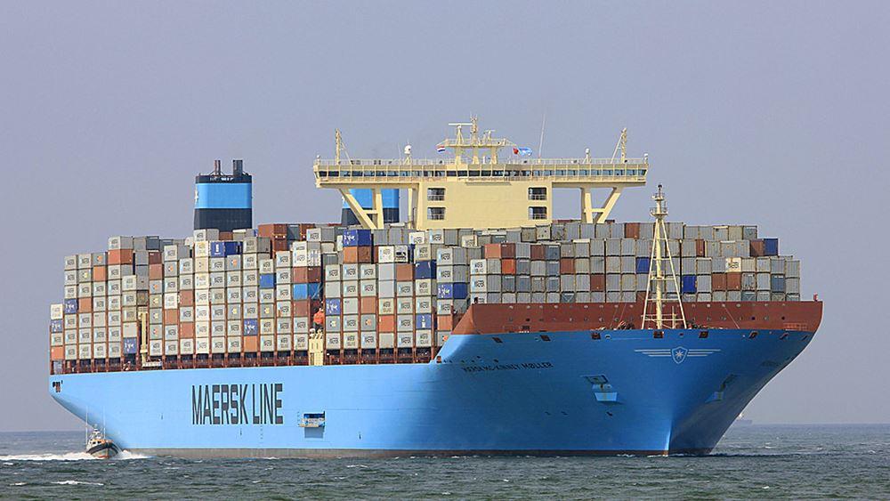 Maersk: Πλήγμα 20%-25% στον όγκο των κοντέινερ αναμένει το β' τρίμηνο