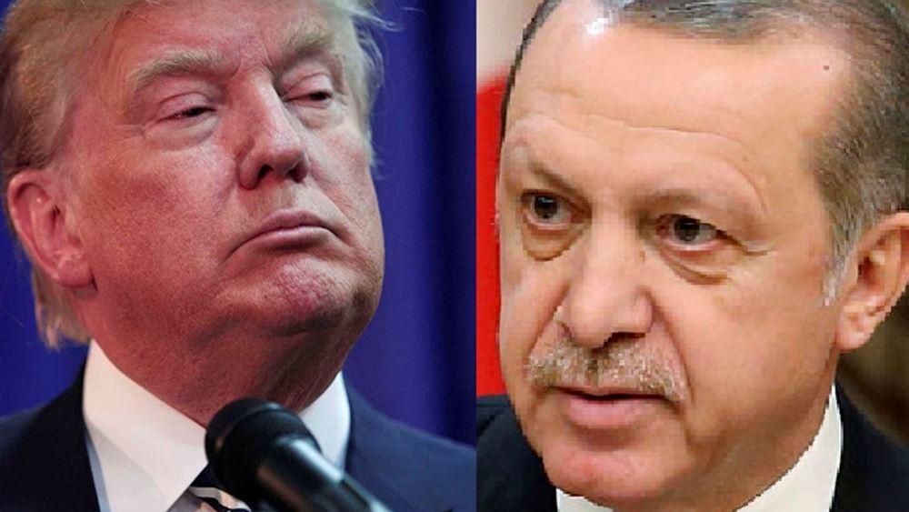 Ο Τραμπ διαβεβαιώνει πως ο Ερντογάν του εξέφρασε τη βούλησή του να εφαρμοστεί η εκεχειρία