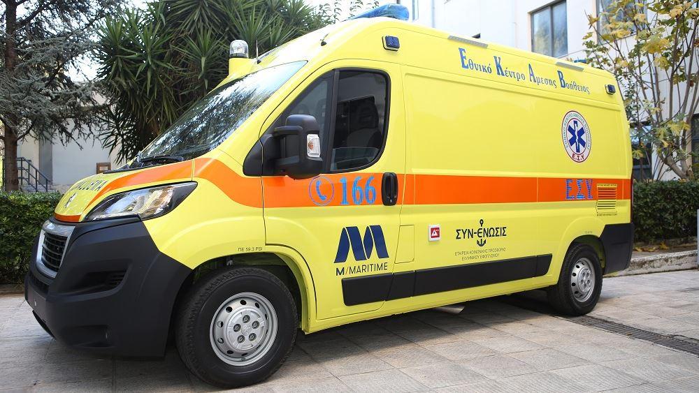 Tο πρώτο ασθενοφόρο με σύστημα αρνητικής πίεσης προσφέρει στο ΕΚΑΒ η Ένωσις Ελλήνων Εφοπλιστών