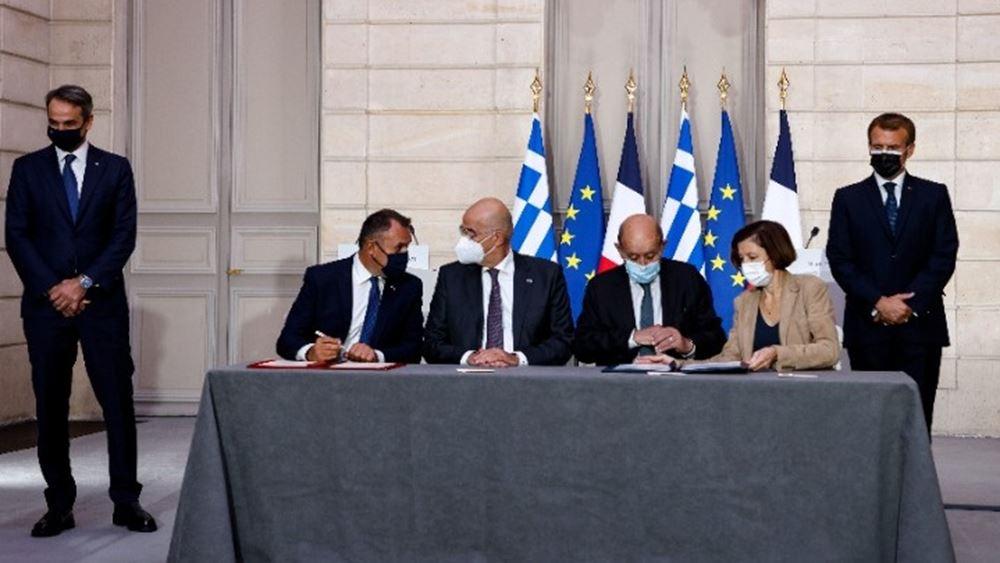 """Φ. Παρλί: Τεκμήριο μίας """"φιλόδοξης ευρωπαϊκής άμυνας"""" η συμφωνία με την Ελλάδα"""