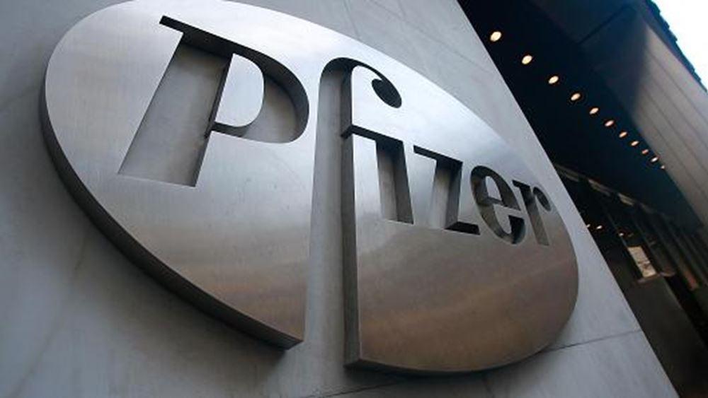 Ξεπέρασαν τις εκτιμήσεις των αναλυτών τα κέρδη και τα έσοδα της Pfizer στο α΄ τρίμηνο