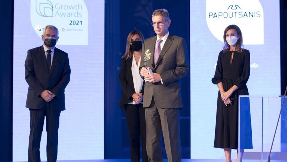 Παπουτσάνης: Κορυφαία Διάκριση στα φετινά Βραβεία Ανάπτυξης & Ανταγωνιστικότητας Growth Awards