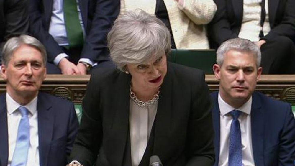 Βρετανία: Μέι και Χάμοντ θα ψηφίσουν κατά ενός Brexit χωρίς συμφωνία